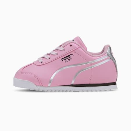Roma Shine Toddler Shoes, Pale Pink-Puma Silver, small
