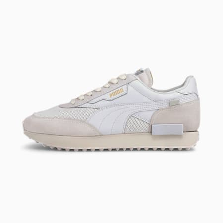 Future Rider Luxe Trainers, Puma White-Whisper White, small