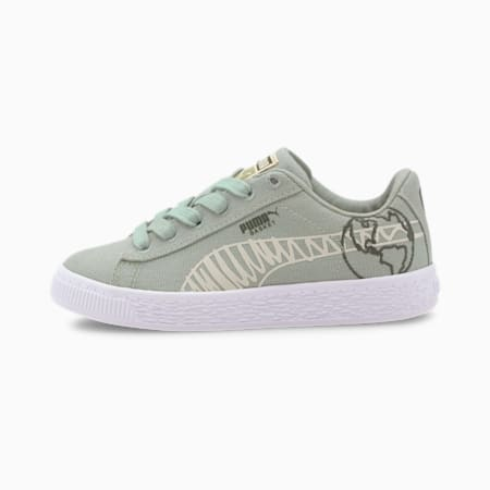 Time4Change Basket Canvas Winter Little Kids' Shoes, Aqua Gray-Thyme, small