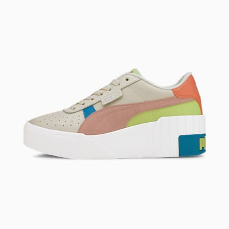 Cali Wedge Sunset Boulevard Women's Sneakers, Marshmallow-Puma White, small