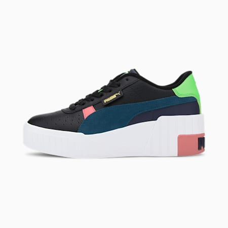 Cali Wedge Sunset Boulevard Damen Sneaker, Puma Black-Puma White, small