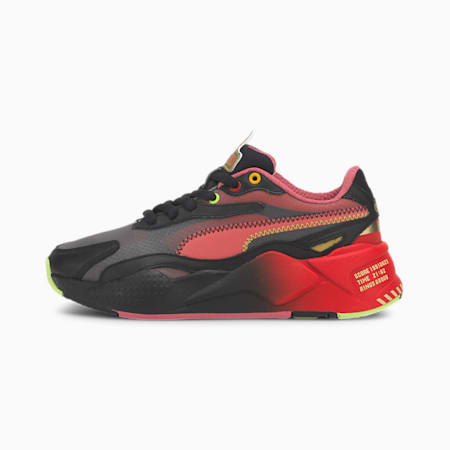 PUMA x SONIC RS-X Color Youth Trainers 2, Puma Black-High Risk Red, small