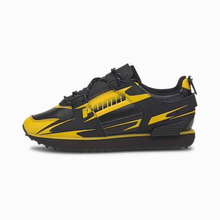 Damskie buty sportowe PUMA x CENTRAL SAINT MARTINS Mile Rider, Puma Black-Super Lemon, small
