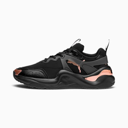 Rise Neoprene Women's Trainers, Puma Black-Rose Gold, small-SEA