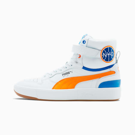 Sky LX Mid Athletic NYC Sneakers, White-Vib Orange-Palace Blue, small