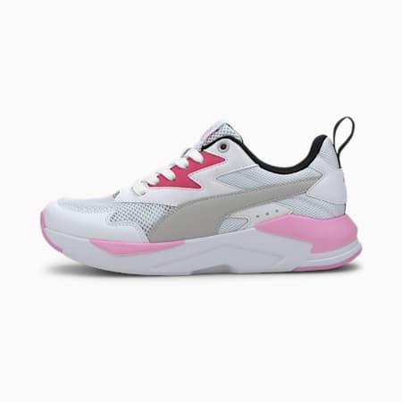 X-Ray Lite Youth Trainers, Puma White-Gray Violet-Glowing Pink-Puma Black-Puma Silver, small
