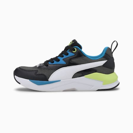 X-Ray Lite SoftFoam+ Kid's Shoes, Puma Black-Puma White-Dark Shadow-Dresden Blue-Sharp Green, small-IND