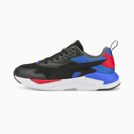 X-Ray Lite SoftFoam+ Kid's Shoes, Puma Black-Puma Black-Nebulas Blue-Urban Red-Puma Silver, small-IND