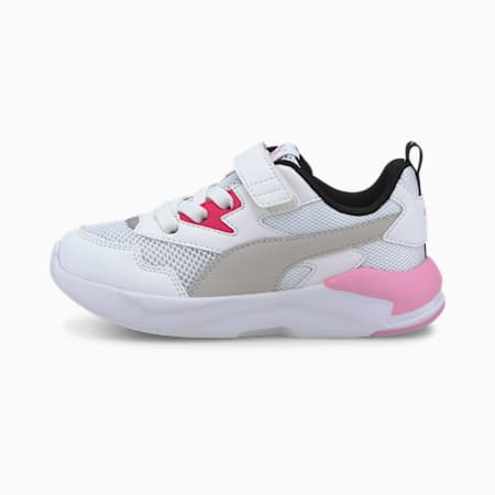 X-Ray Lite Kids' Trainers, White-Gray-Pink-Black-Silver, small