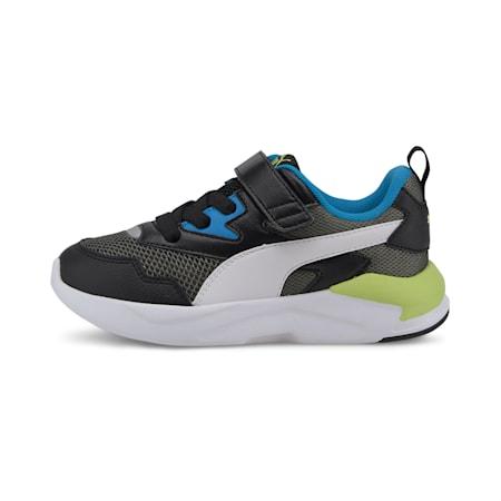 X-Ray Lite IMEVA Kids' Shoes, Puma Black-Puma White-Dark Shadow-Dresden Blue-Sharp Green, small-IND
