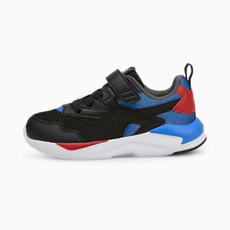 X-Ray Lite Kids Sneaker, Puma Black-Puma Black-Nebulas Blue-Urban Red-Puma Silver, small