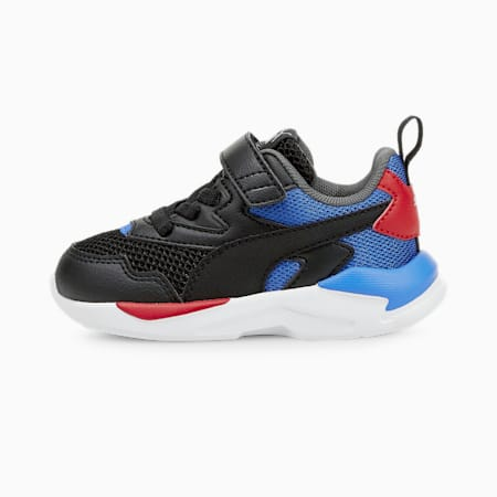 X-Ray Lite Baby Sneaker, Puma Black-Puma Black-Nebulas Blue-Urban Red-Puma Silver, small
