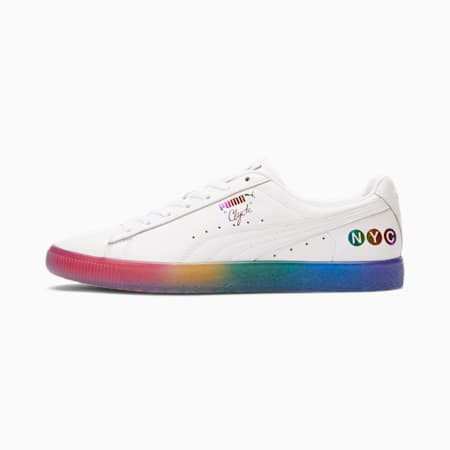Clyde Pride NYC Sneakers, PWhite-H R Red-Prism Violet, small