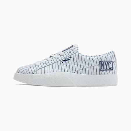 Love NYC Women's Sneakers, P.White-P.White-Dark Denim, small
