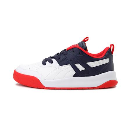 Backcourt IMEVA SoftFoam+ Kid's Shoes, Peacoat-Puma White-Red, small-IND