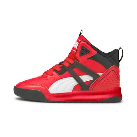 PUMA Backcourt Mid SoftFoam+ Kid's Shoes, High Risk Red-Puma White-Puma Black, small-IND