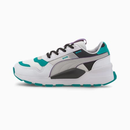RS 2.0 Futura Sneakers JR, Puma White-Viridian Green, small