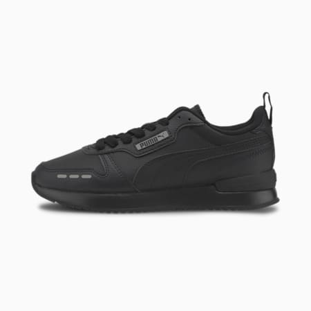R78 Youth Trainers, Black-Black-Gray Violet, small-GBR