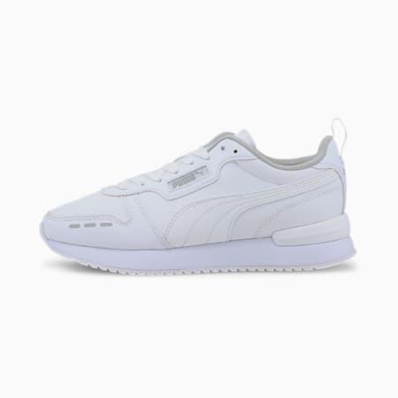 R78 sportschoenen voor jongeren, White-White-Gray Violet, small