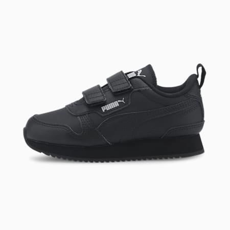 PUMA R78 Little Kids' Shoes, Black-Black-Gray Violet, small