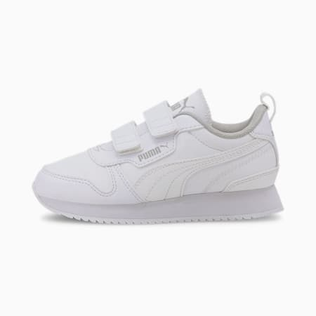R78 Kids' Trainers, White-White-Gray Violet, small-GBR