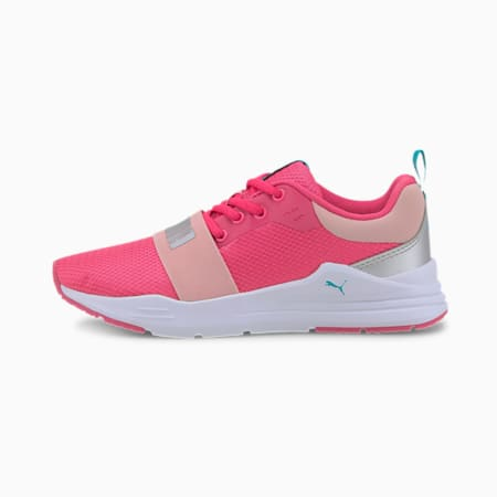 Wired Run Agile IMEVA Kid's Shoes, Glowing Pink-Puma Silver, small-IND