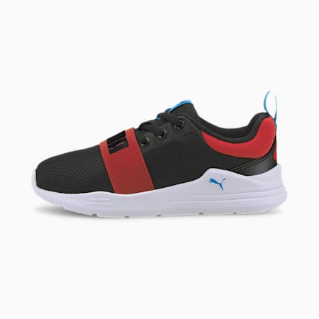 Wired Run Agile IMEVA Kids' Shoes, Puma Black-Puma Black, small-IND