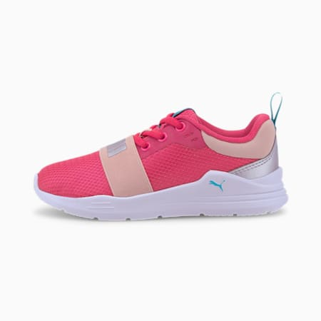Wired Run Agile IMEVA Kids' Shoes, Glowing Pink-Puma Silver, small-IND