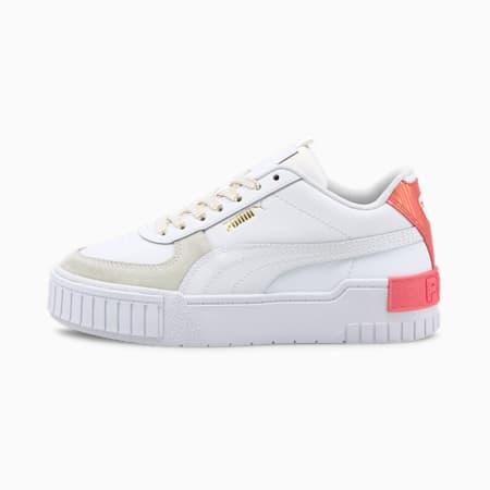 Zapatos deportivos Cali Sport FireworksJR, Puma White-Sun Kissed Coral, pequeño