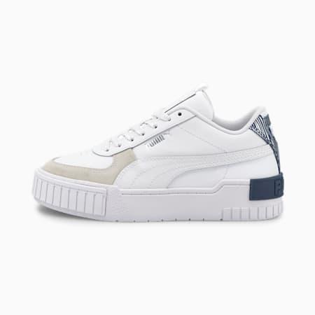 Zapatos deportivos Cali Sport FireworksJR, Puma White-Elektro Blue, pequeño