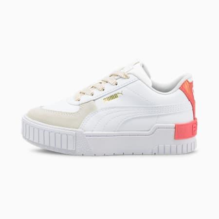 Zapatos Cali Sport Fireworkspara niñas, Puma White-Sun Kissed Coral, pequeño