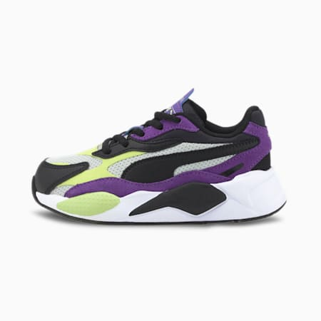 RS-X³ Bright Kids' Trainers, Sharp Green-Ultra Violet, small