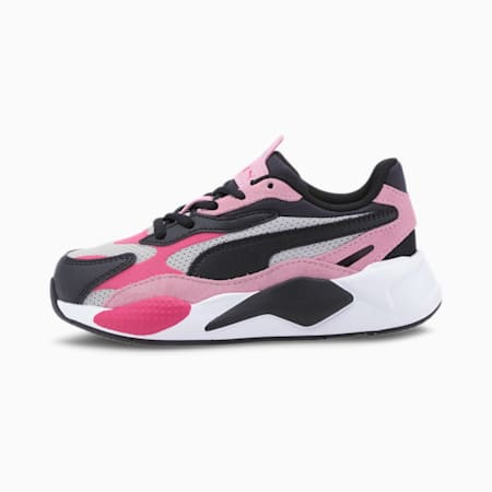 RS-X³ Bright Kids' Trainers, Glowing Pink-Pale Pink-Black, small