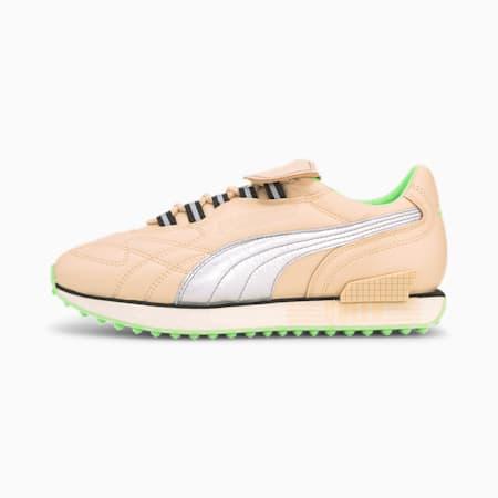 Mile Rider Queen Women's Sneakers, Natural Vachetta-Puma Silver, small