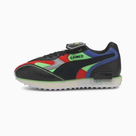 Future Rider King Sneaker, Puma Black-Puma Black, small