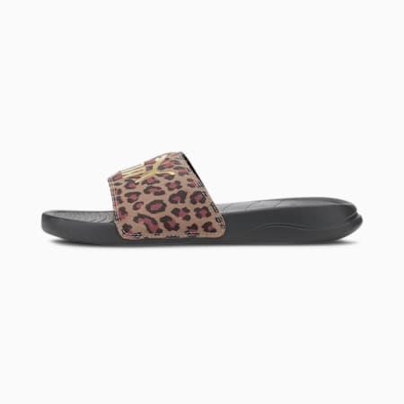 Popcat 20 Leo IMEVA Women's Slides, Puma Black-Gold, small-IND