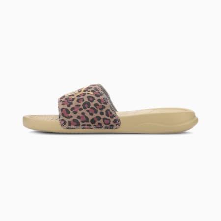 Popcat 20 Leo IMEVA Women's Slides, Pale Khaki-Gold, small-IND