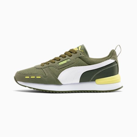 PUMA R78 Women's Sneakers, Green-White-Sunny Lime, small
