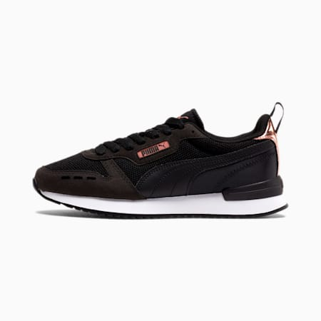 PUMA R78 Metallic Women's Sneakers, Puma Black-Rose Gold-White, small