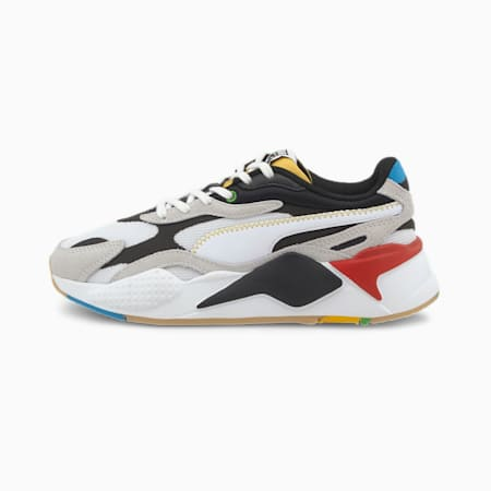 RS-X³ Youth Sneaker, Puma White-Puma Black, small