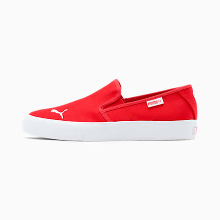 Bari Slip-On Women's Shoes, High Risk Red-Puma White, small