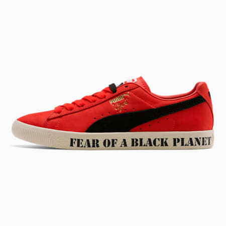 PUMA x PUBLIC ENEMY Clyde Sneakers, High Risk Red-Puma Black, small