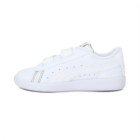 Basket Classic one8 Kids' Sneakers, Puma White-Puma Team Gold, small-IND
