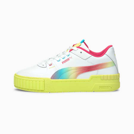 Cali Sport Tie Dye Women's Sneakers, P.White-Sunny Lime-S.Lime, small