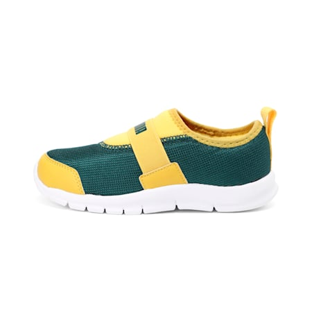 PUMA Flex PS IDP Kid's Sneakers, Ponderosa Pine-Sulphur-Black, small-IND