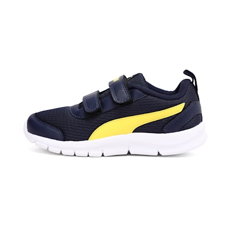Racer PS IDP Kid's Sneakers, Peacoat-Blazing Yellow, small-IND
