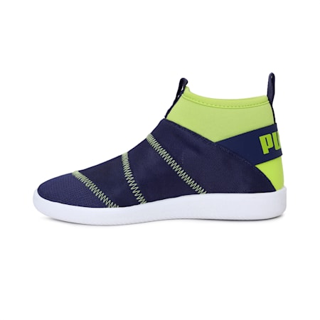 Lazy Knit Mid PS IDP Sneakers, Peacoat-Limepunch, small-IND