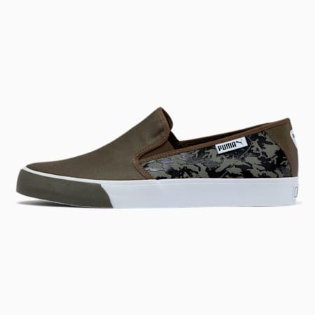 Bari Camo Slip-On Shoes, Dark Olive-Puma Black, small