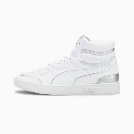 Ralph Sampson Mid Metal Women's Sneakers, Puma White-Puma Silver, small
