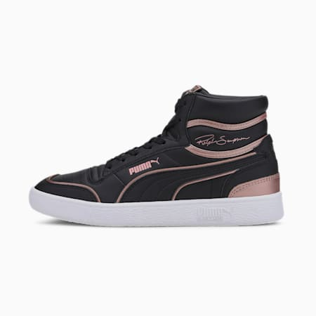 Ralph Sampson Mid Metal Women's Sneakers, Puma Black-Rose Gold, small